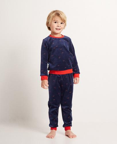 Donkerblauwe pyjama
